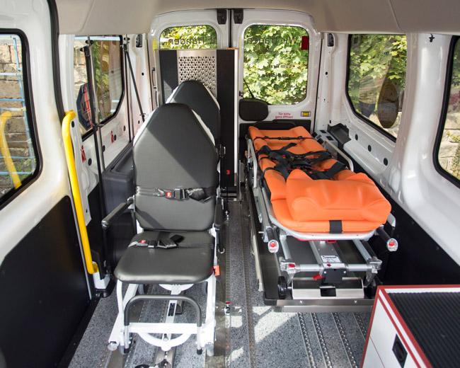 Krankentransport Innenansicht